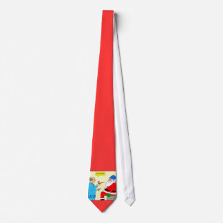 x85 Santa Goes to the Doctor Cartoon Christmas Tie