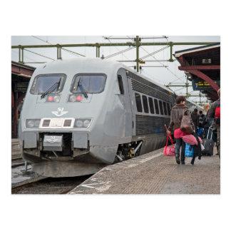 X - 2000 at Sundsvall. Speed passenger train Postcard