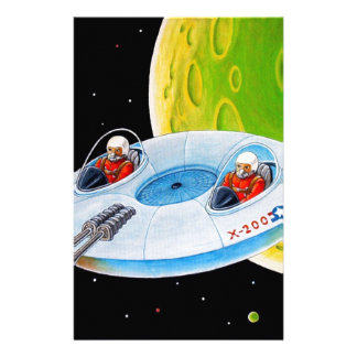 X-200 FLYING SAUCER STATIONERY