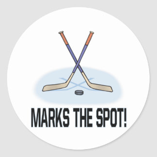 X Marks The Spot Classic Round Sticker