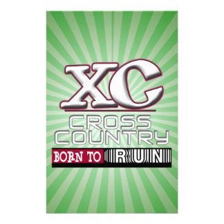 XC CROSS COUNTRY MOTTO BORN TO RUN MAROON STATIONERY