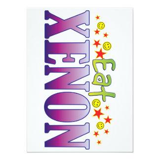 Xenon Eat 14 Cm X 19 Cm Invitation Card