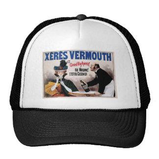 Xeres Vermouth Vintage Wine Drink Ad Art Hats