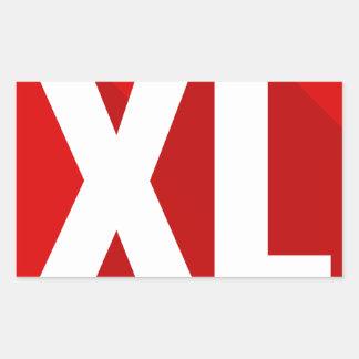 XL RECTANGULAR STICKER