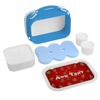 Xmas Gingerbread Cookies Lunch Box