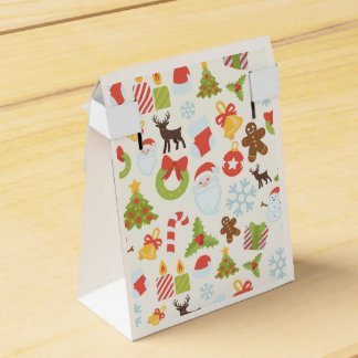 Xmas Icon Pattern tent made with custom icons Favour Box