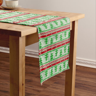 Xmas knitting seamless pattern 2 + your ideas long table runner