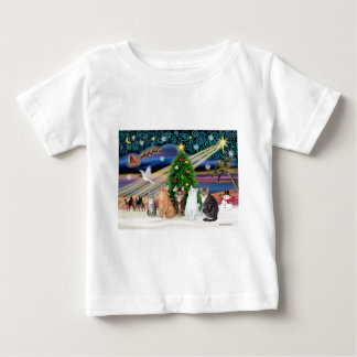 Xmas Magic - Five cats (AmSH) Baby T-Shirt