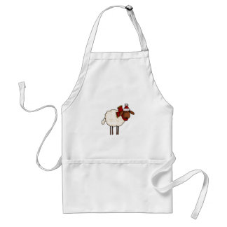 xmas sheep standard apron