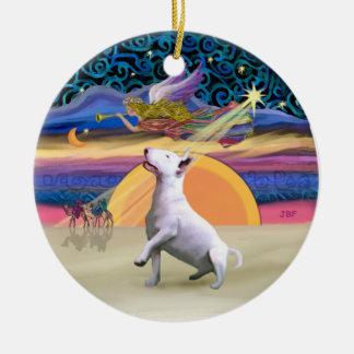 Xmas Star - Bull Terrier #3 Christmas Ornament