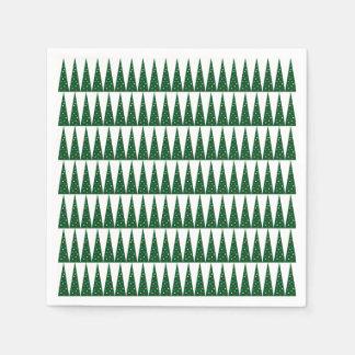 Xmas Tree   Green Colorful Pattern Design Disposable Serviette