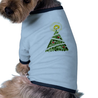 Xmas tree painted with fingers doggie shirt