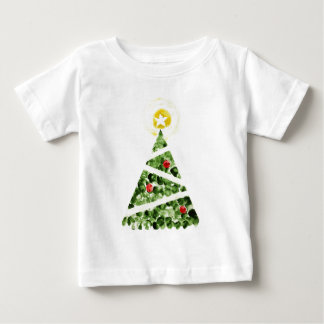 Xmas tree painted with fingers tee shirt