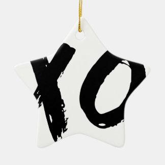XO Brush Minimal Christmas Ornament