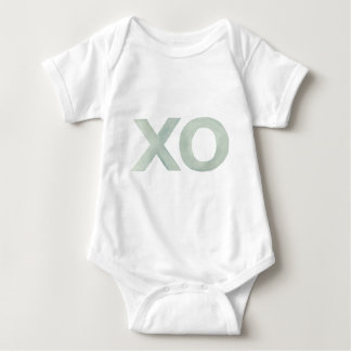 XO Gray watercolor Baby Bodysuit