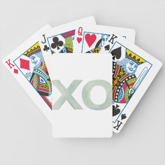 XO Gray watercolor Bicycle Playing Cards