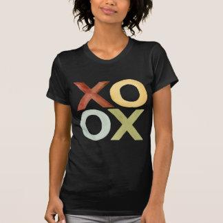 XO OX red yellow grey green watercolor T-Shirt