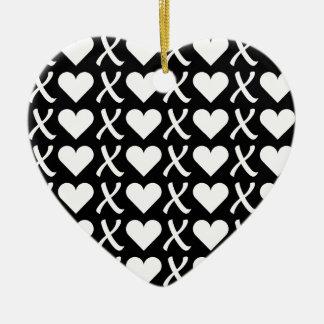 XOXO Black Christmas Ornament