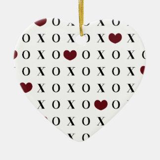 XOXO Hearts Christmas Ornament