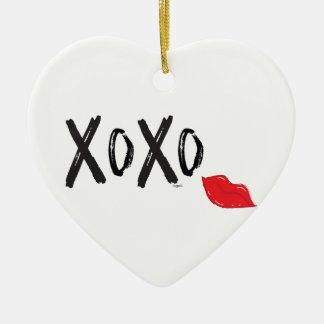 XoXo-Hugs-Kisses-with-Red-Lips Christmas Ornament
