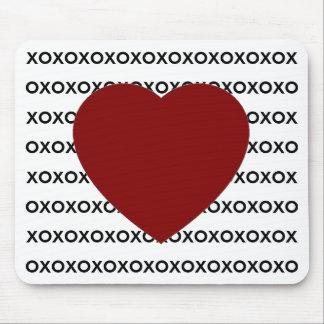 xoxo mousepad with heart