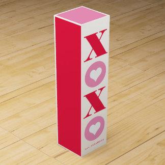 xoxo valentine's day wine gift box