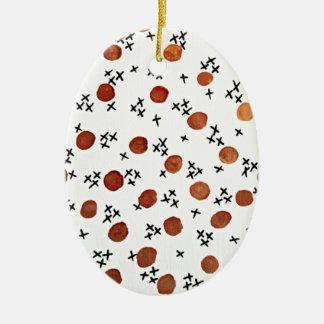 X's and O's, Romantic Love Minimal Chic Polka Dots Christmas Ornament