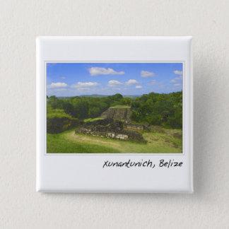 Xunantunich Mayan Ruin in Belize 15 Cm Square Badge