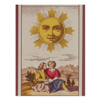 XVIIII Le Soleil, French tarot card of the Sun