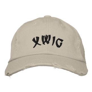 XWIG Embroidered Distressed Cap Embroidered Hat