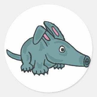 XX- Awesome Aardvark Classic Round Sticker