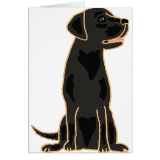 XX- Awesome Black Labrador Retriever Design Card