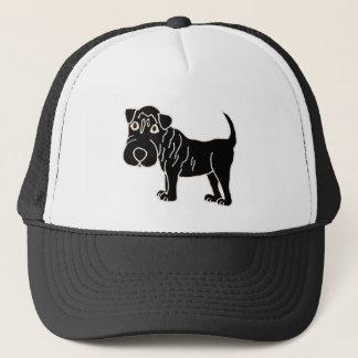 XX- Black Shar Pei Dog Cartoon Trucker Hat