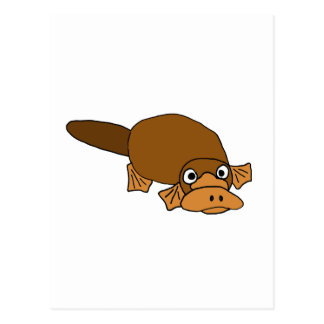 XX- Duck Billed Platypus Cartoon Postcard