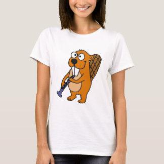 XX- Funny Beaver Playing Clarinet Cartoon T-Shirt