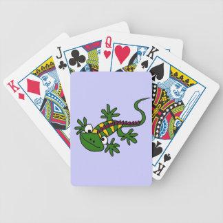 XX- Funny Colorful Iguana Cartoon Poker Deck