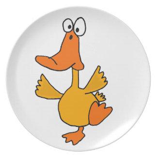 XX- Funny Dancing Duck Cartoon Plate