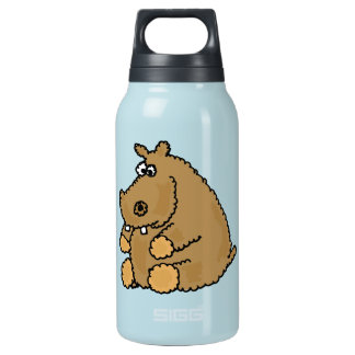 XX- Funny Hippo Cartoon Insulated Water Bottle