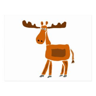 XX- Funny Moose Art Design Postcard