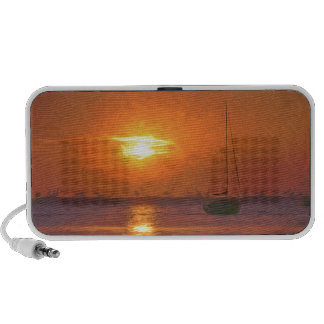 Yachts at Sunset Travelling Speakers