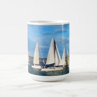 Yachts sailing, Jersey Coffee Mug