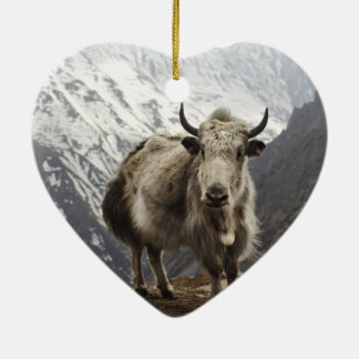Yak in Nepal Christmas Ornament