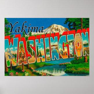 Yakima, Washington - Large Letter Scenes 2 Poster