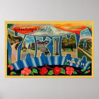 Yakima, Washington - Large Letter Scenes Poster
