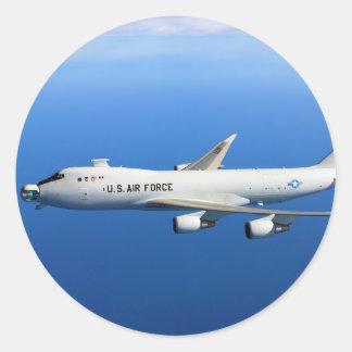 YAL-1A Airborne Laser Aircraft in flight Round Sticker