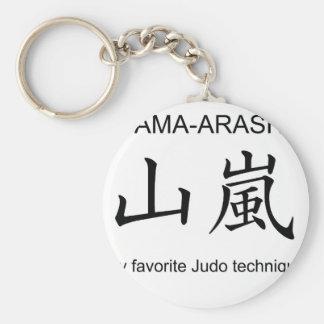 YAMAARASHI-My favorite Judo technique- Basic Round Button Key Ring