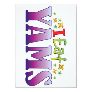 Yams I Eat 14 Cm X 19 Cm Invitation Card