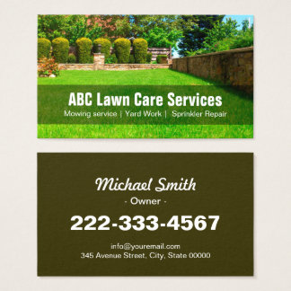 1000 Lawn Care Business Cards and Lawn Care Business Card