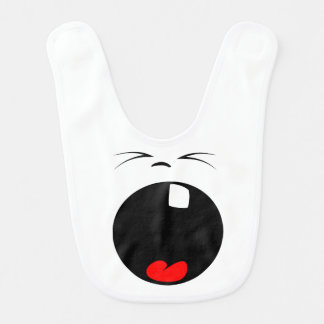 Yawning Smiley Face  baby Bib