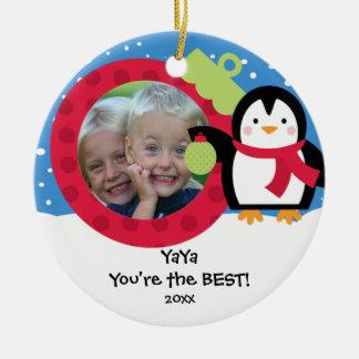 YaYa Photo Penguin Christmas Ornament